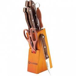 Набір ножів з нержавіючої сталі на підставці MAESTRO MR-1406 (8 пр) | кухонний ніж Маестро | ножі Маестро