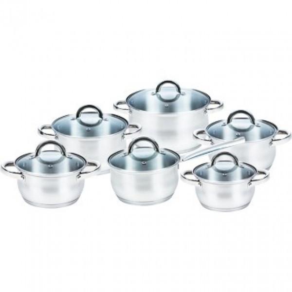 Набор кухонной посуды нержавеющая сталь Maestro MR-2120 12 предметов