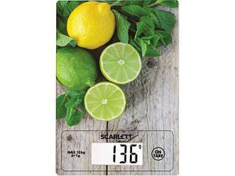 Ваги кухонні електронні з точністю виміру 1 грам Scarlett SC-KS57P21 максимальна вага 10 кг
