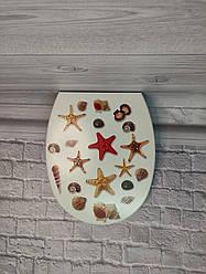 Крышка для унитаза Морские звезды 372