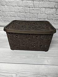 Корзина для хранения Ажур Elif 374 коричневого цвета
