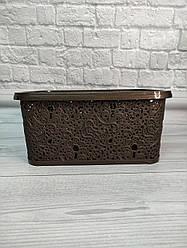 Корзина для хранения Ажур Elif 377 коричневого цвета