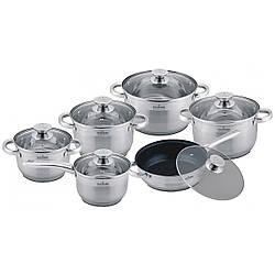 Набір посуду каструль і сковорідок Maxmark MK-3512A - 12 предметів