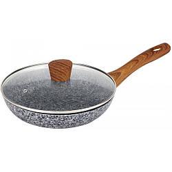 Сковорода з гранітним покриттям звичайна Maxmark MK-FP4524G 24 см