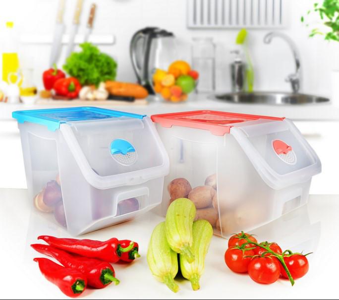 Контейнер для овочів прозорий Irak Plastik SA-960