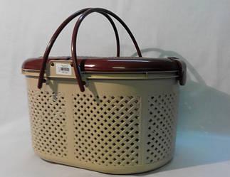 Корзина для пикника Irak Plastik SP-110 бежево-коричневый