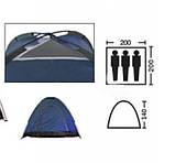 Палатка 2*2м автоматическая туристическая кемпинговая с вентиляцией универсальная для кемпинга, фото 3