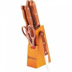 Набір ножів з нержавіючої сталі на підставці MAESTRO MR-1401 (7 пр.) | кухонний ніж Маестро | ножі Маестро