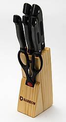 Набір ножів з нержавіючої сталі на підставці MAESTRO MR-1407 (7 шт) | кухонний ніж Маестро | ножі Маестро