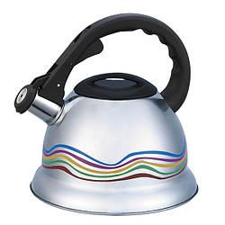 Чайник зі свистком з нержавіючої сталі Maestro MR-1315(3 л) металевий чайник Маестро, Маестро