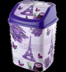 Відро для сміття Elif Plastik з хитної кришкою з малюнком 5,5 л