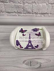 Пластиковий тримач для туалетного паперу Ейфелева вежа Elif