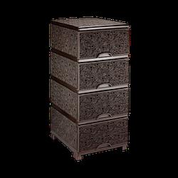 Комод ажурний 37,5х45,5х90 см Elif Plastik 295 колір коричневий