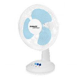Настольный вентилятор Scarlett SC-DF111S07 38Вт белый