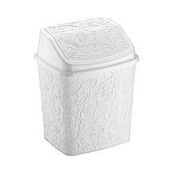Відерце для сміття пластик Ажур Elif біле 384-1