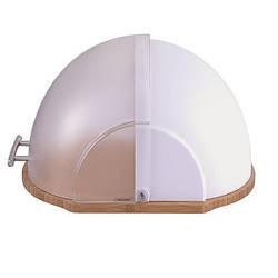 Хлебница деревянная с пластиковой крышкой Maestro MR-1678 (36 х 20 х 26 см, откидная крышка)