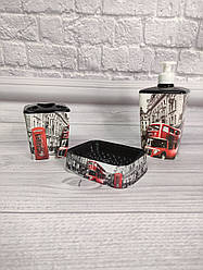Набор аксессуаров для ванной 3 предмета Elif Лондон 392