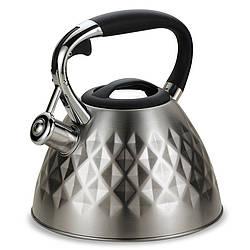 Чайник со свистком из нержавеющей стали Maestro MR-1322 (3 л)   металлический чайник Маэстро, Маестро