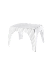 Стол низкий Ротанг Senyayla белый