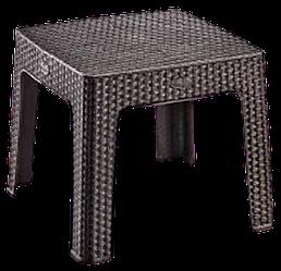 Стіл міні квадратний Ротанг Irak Plastik коричневий