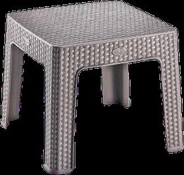 Стіл міні квадратний Ротанг Irak Plastik латте