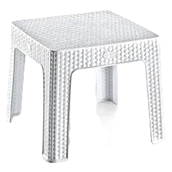 Стіл міні квадратний Ротанг Irak Plastik білий