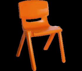 Стілець дитячий із спинкою Jumbo помаранчевий