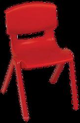 Стілець дитячий із спинкою Jumbo червоний