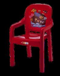 Стілець дитячий Senyayla зі спинкою з малюнком червоний