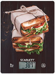 Весы кухонные электронные Scarlett SC-KS57P56 вес до 8 кг точность до 1