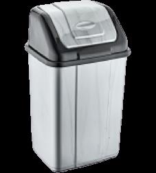 Відро для сміття з поворотною кришкою 10л Akay АК-062 металік
