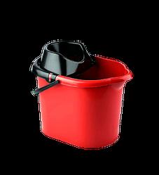 Ведро для швабры с отжимом 13л Elif-380 красное