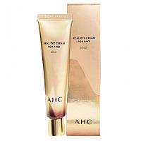 Питательный крем для лица и кожи вокруг глаз с пептидным комплексом AHC The Real Eye Cream For Face Gold, 30мл