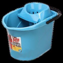 Ведро для швабры с отжимом 13л Elif-380 голубое