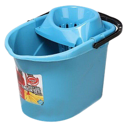 Відро для швабри з віджимом 13л Elif-380 блакитне