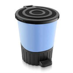 Ведро для мусора с педалью 14л Dunya-01062 Голубое