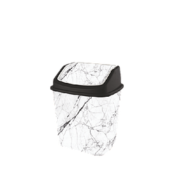 Ведро для мусора с поворотной крышкой 7л Elif 341 Мрамор