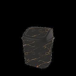 Ведро для мусора с поворотной крышкой 7л Elif 341 Черный мрамор