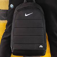 Спортивный рюкзак Nike Air Найк Эир мужской черный вместительный для тренировок на каждый день классический