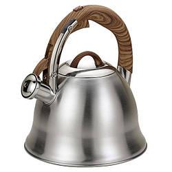 Чайник зі свистком з нержавіючої сталі Maestro MR-1320W (3 л)   металевий чайник Маестро, Маестро