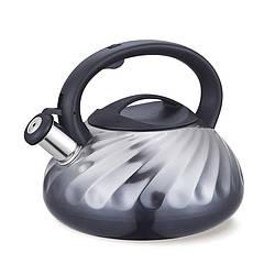 Чайник зі свистком з нержавіючої сталі Maestro MR-1321 (3 л) сірий   металевий чайник Маестро, Маестро