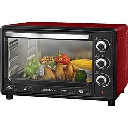 Духовка настольная Liberton LEO-480 Red объем духовки 48л
