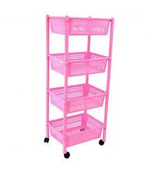 Етажерка прямокутна Консенсус рожева K4-5 #PO