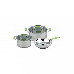 Набір каструль і сковорідок Con Brio CB-1149 5 предметів, нержавіюча сталь