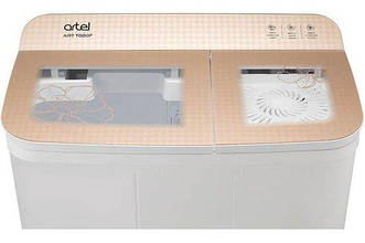 Пральна машина напівавтомат ARTEL ART TG-60F Brown на 6 кг з вертикальним завантаженням