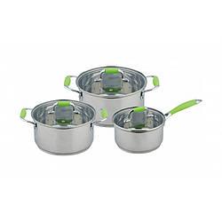 Набор кастрюль Con Brio CB-1150 6 предметов, нержавеющая сталь