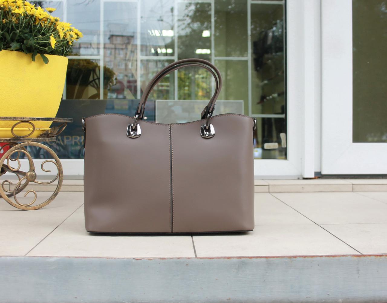Велика жіноча сумка натуральна шкіра Італія