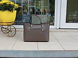 Большая женская сумка натуральная кожа Италия, фото 4