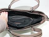 Большая женская сумка натуральная кожа Италия, фото 5