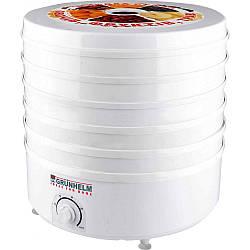 Сушка для фруктов  Grunhelm BY1162 мощность 520 Вт объм 20 л 5 секций